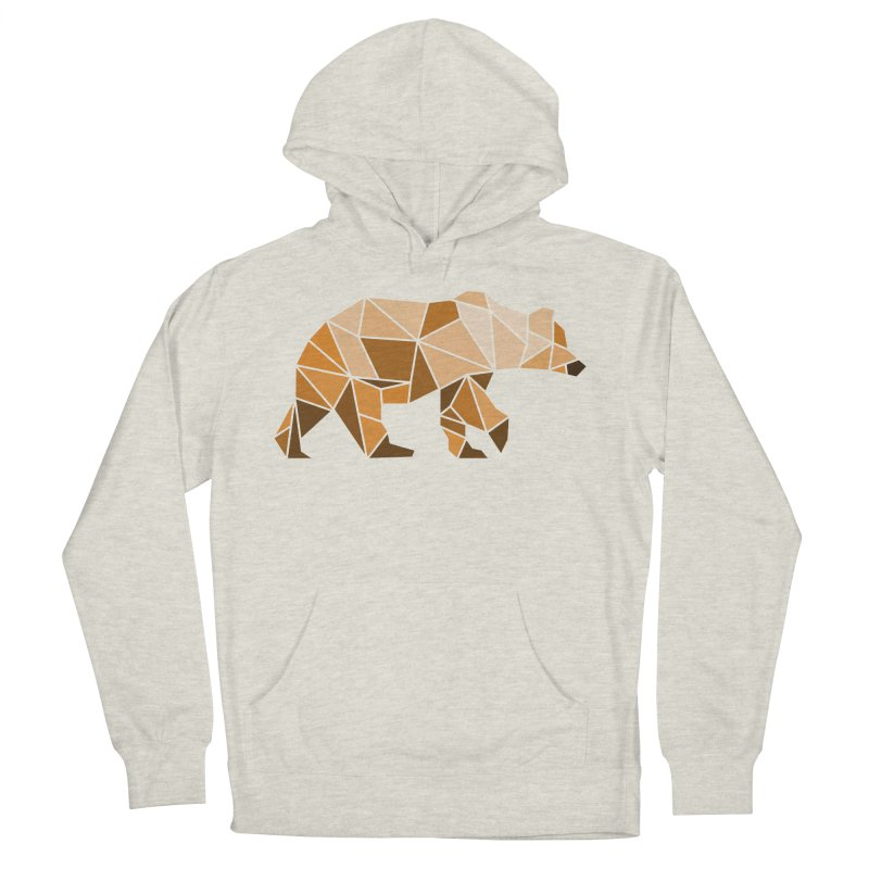Geometric Grizzly Men's Pullover Hoody by WaWaTees Shop
