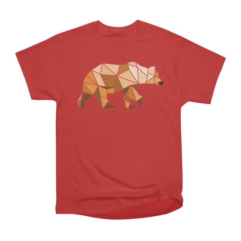 Geometric Grizzly Men's Classic T-Shirt by WaWaTees Shop