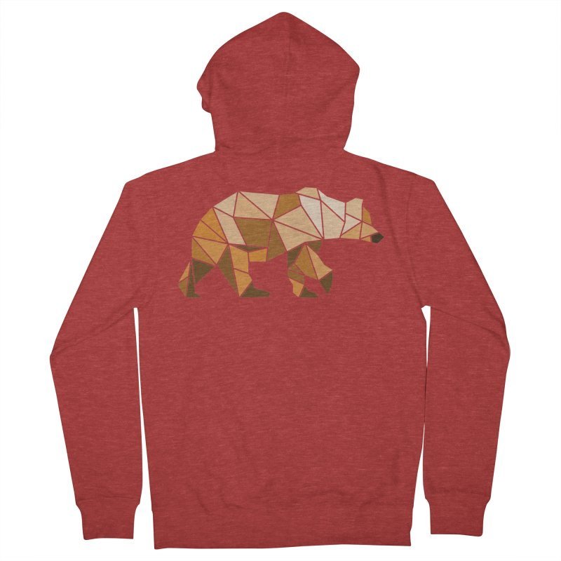 Geometric Grizzly Women's Zip-Up Hoody by WaWaTees Shop