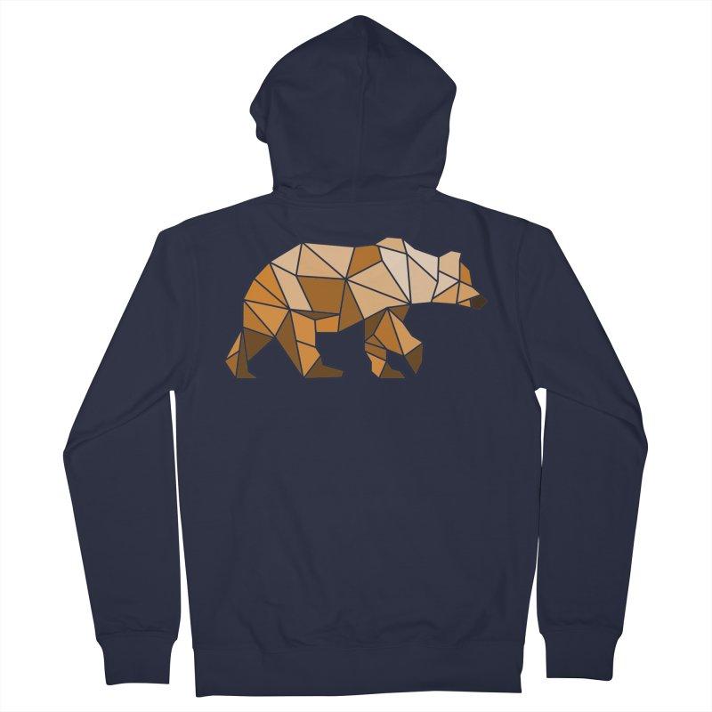 Geometric Grizzly Men's Zip-Up Hoody by WaWaTees Shop