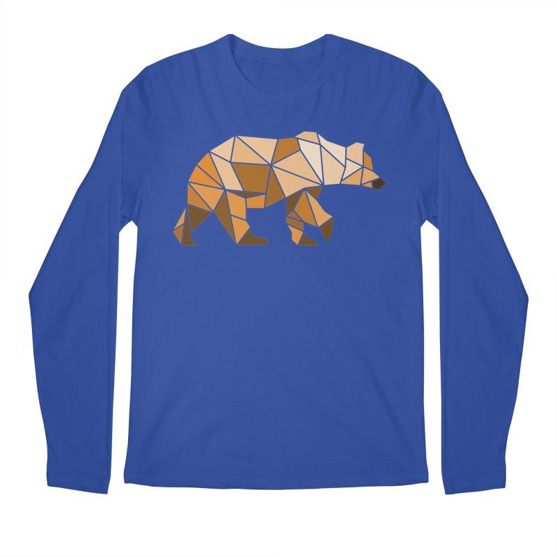 Geometric Grizzly Men's Longsleeve T-Shirt by WaWaTees Shop
