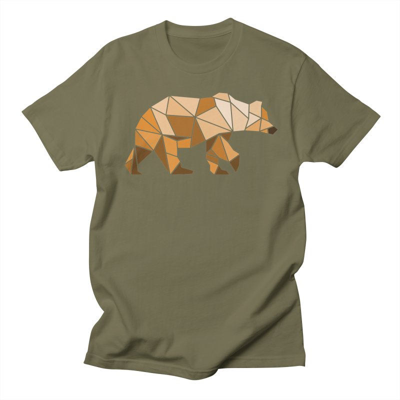 Geometric Grizzly Men's T-shirt by WaWaTees Shop