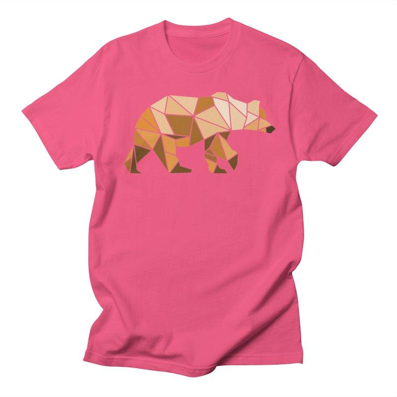 Geometric Grizzly Men's T-Shirt by WaWaTees Shop