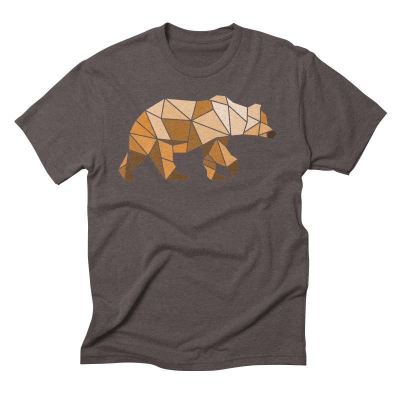 Geometric Grizzly Men's Triblend T-shirt by WaWaTees Shop