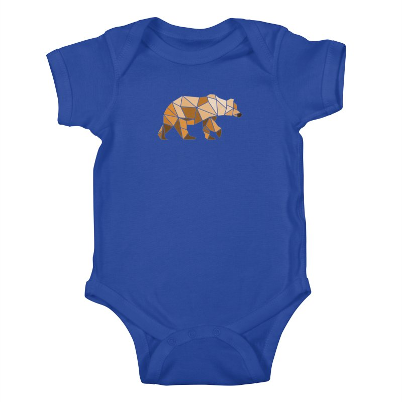 Geometric Grizzly Kids Baby Bodysuit by WaWaTees Shop