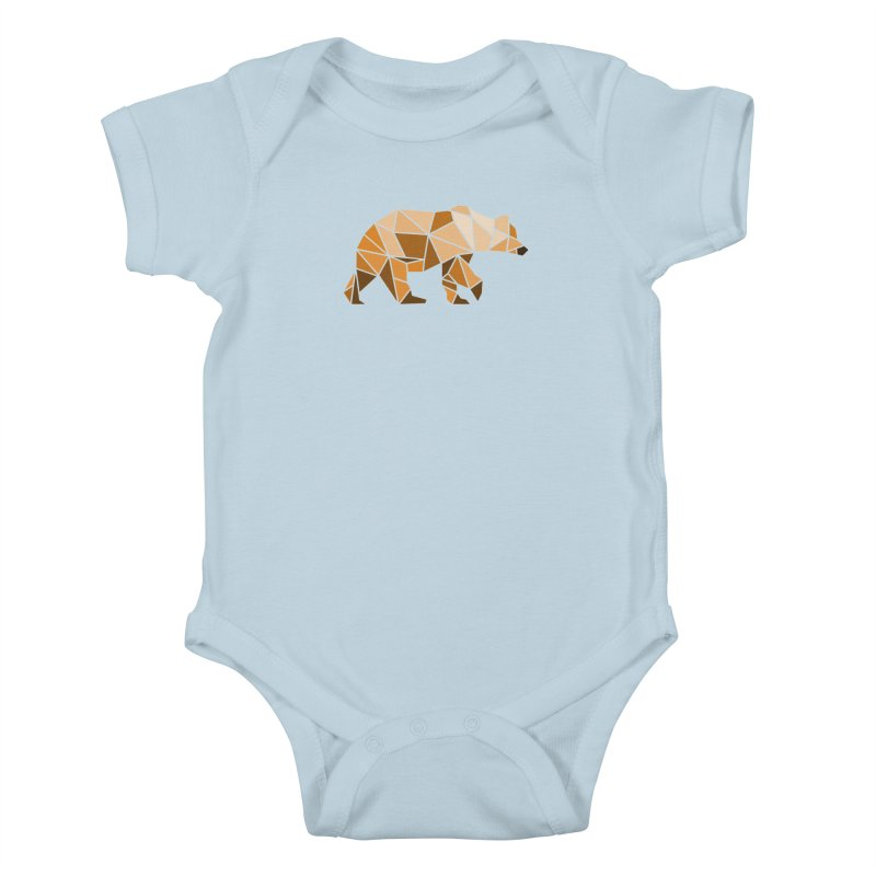 Geometric Grizzly Kids Baby Bodysuit by WaWaTees Shop