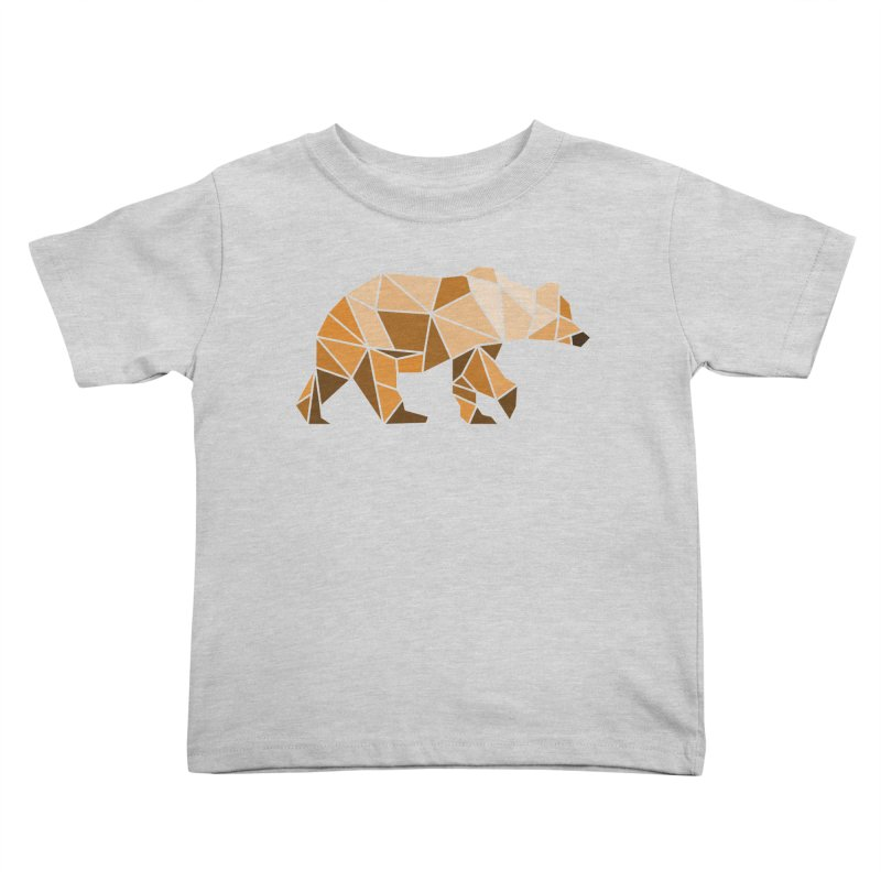 Geometric Grizzly Kids Toddler T-Shirt by WaWaTees Shop
