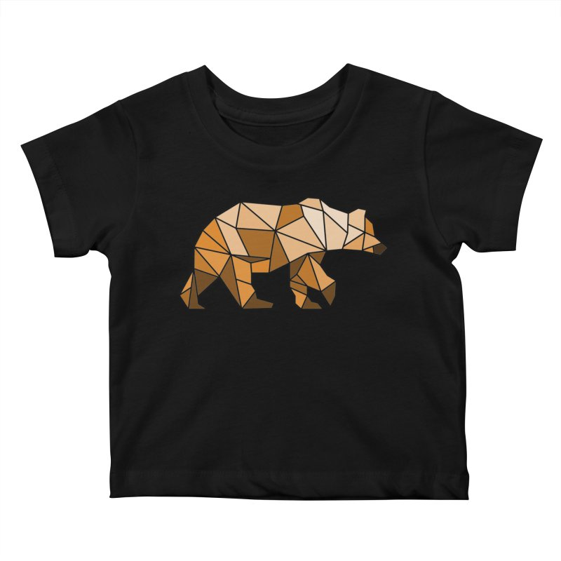 Geometric Grizzly Kids Baby T-Shirt by WaWaTees Shop