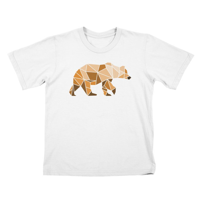 Geometric Grizzly Kids T-shirt by WaWaTees Shop