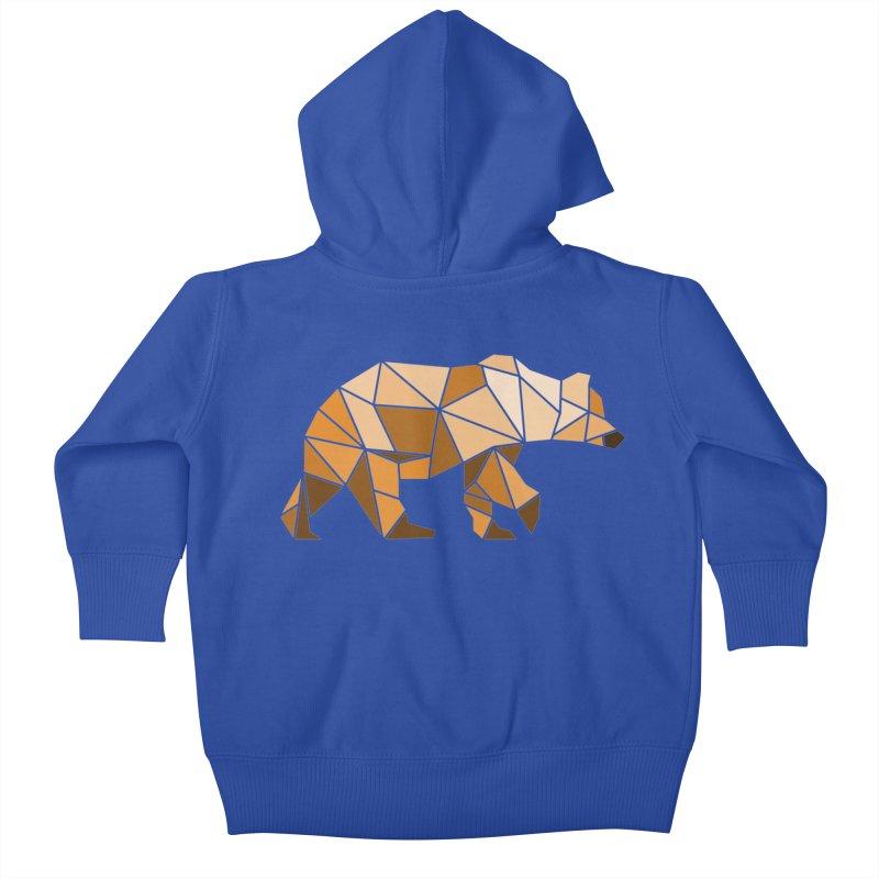 Geometric Grizzly Kids Baby Zip-Up Hoody by WaWaTees Shop