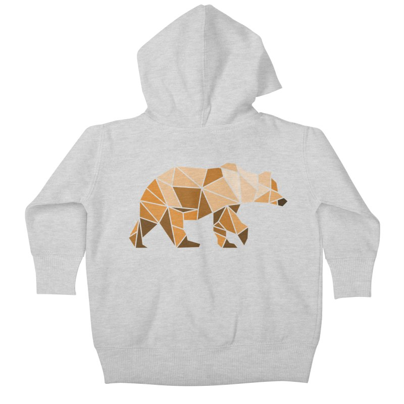 Geometric Grizzly Kids Baby Zip-Up Hoody by WaWaTees Shop