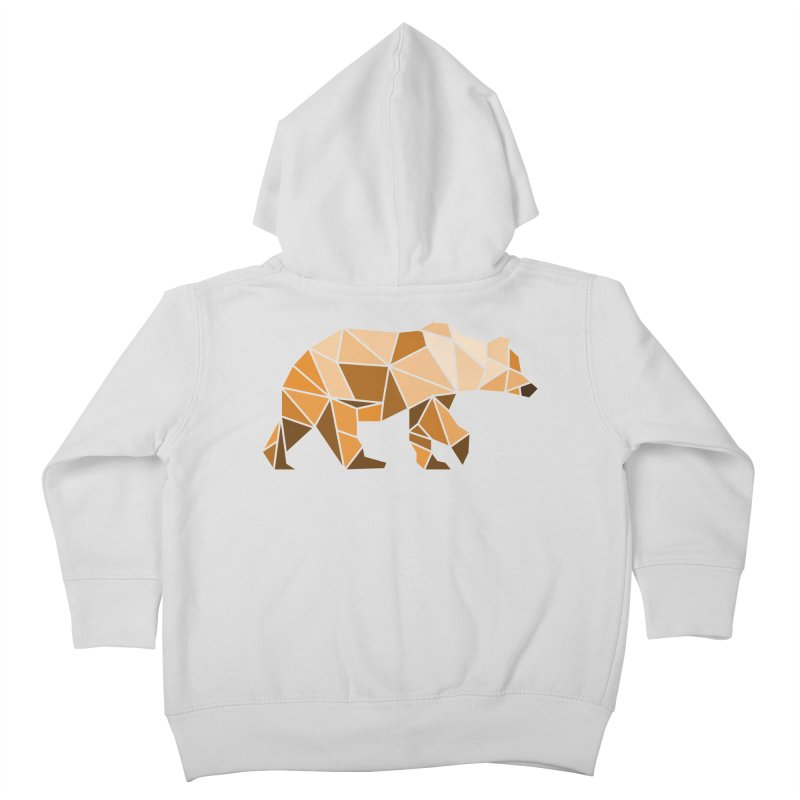 Geometric Grizzly Kids Toddler Zip-Up Hoody by WaWaTees Shop