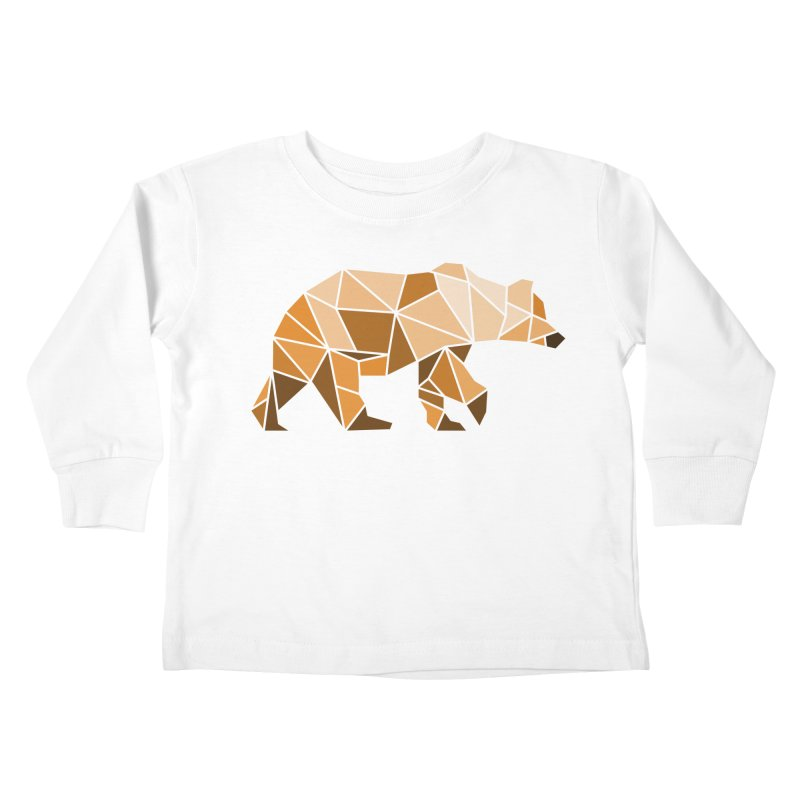 Geometric Grizzly Kids Toddler Longsleeve T-Shirt by WaWaTees Shop