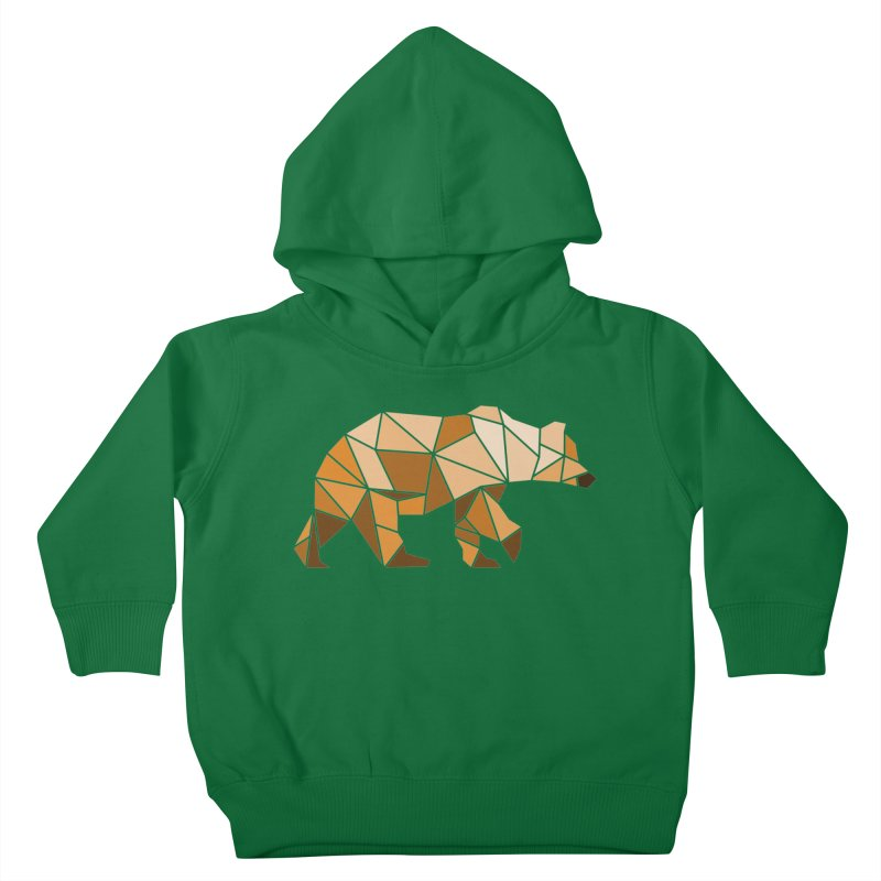 Geometric Grizzly Kids Toddler Pullover Hoody by WaWaTees Shop