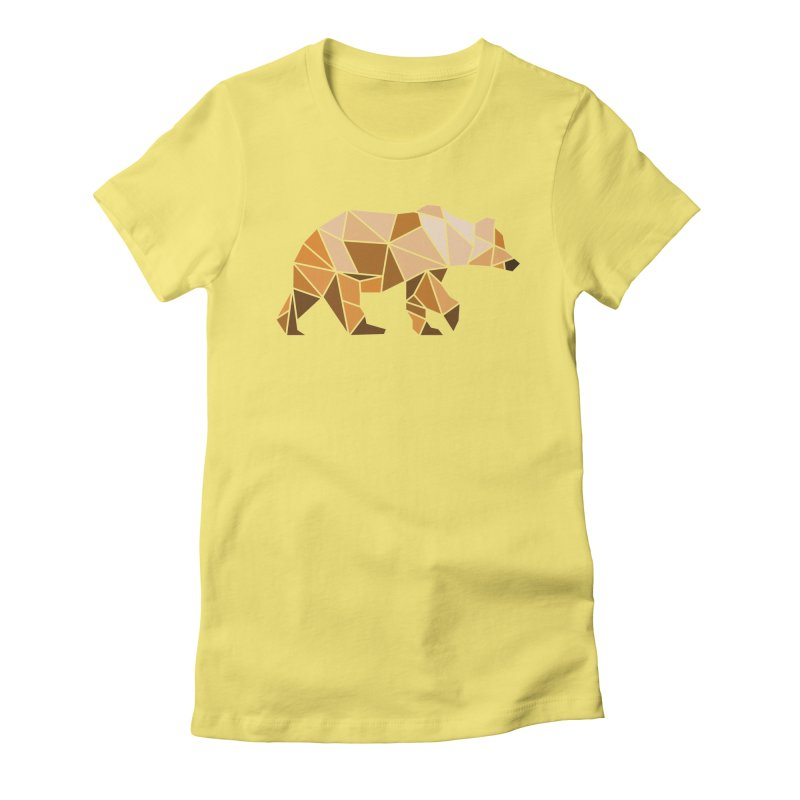 Geometric Grizzly Women's Fitted T-Shirt by WaWaTees Shop