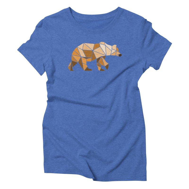 Geometric Grizzly Women's Triblend T-shirt by WaWaTees Shop