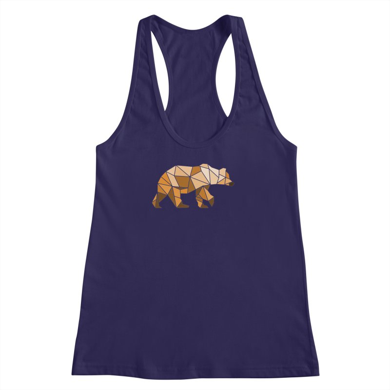 Geometric Grizzly Women's Racerback Tank by WaWaTees Shop