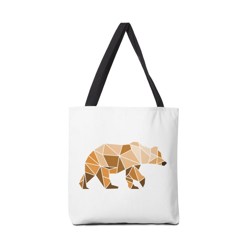 Geometric Grizzly Accessories Bag by WaWaTees Shop