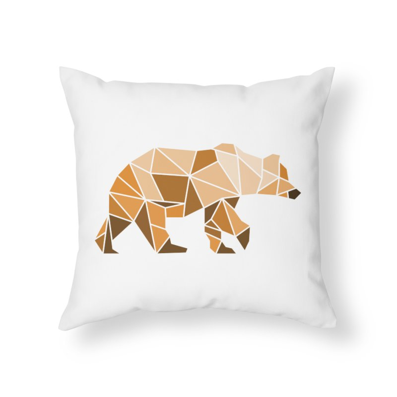 Geometric Grizzly Home Throw Pillow by WaWaTees Shop