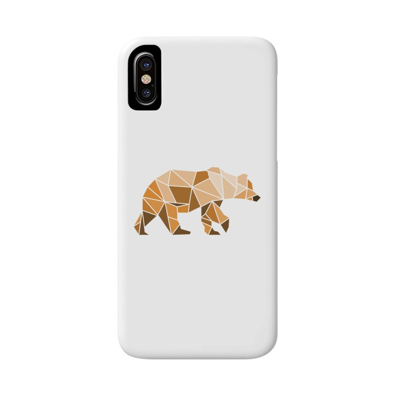 Geometric Grizzly Accessories Phone Case by WaWaTees Shop