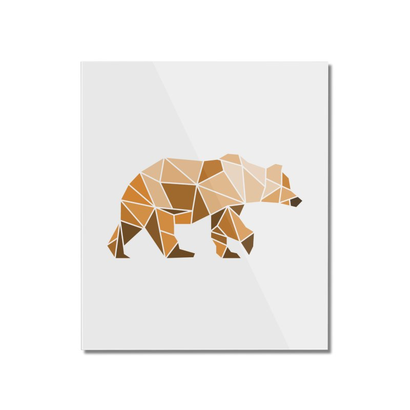 Geometric Grizzly Home Mounted Acrylic Print by WaWaTees Shop