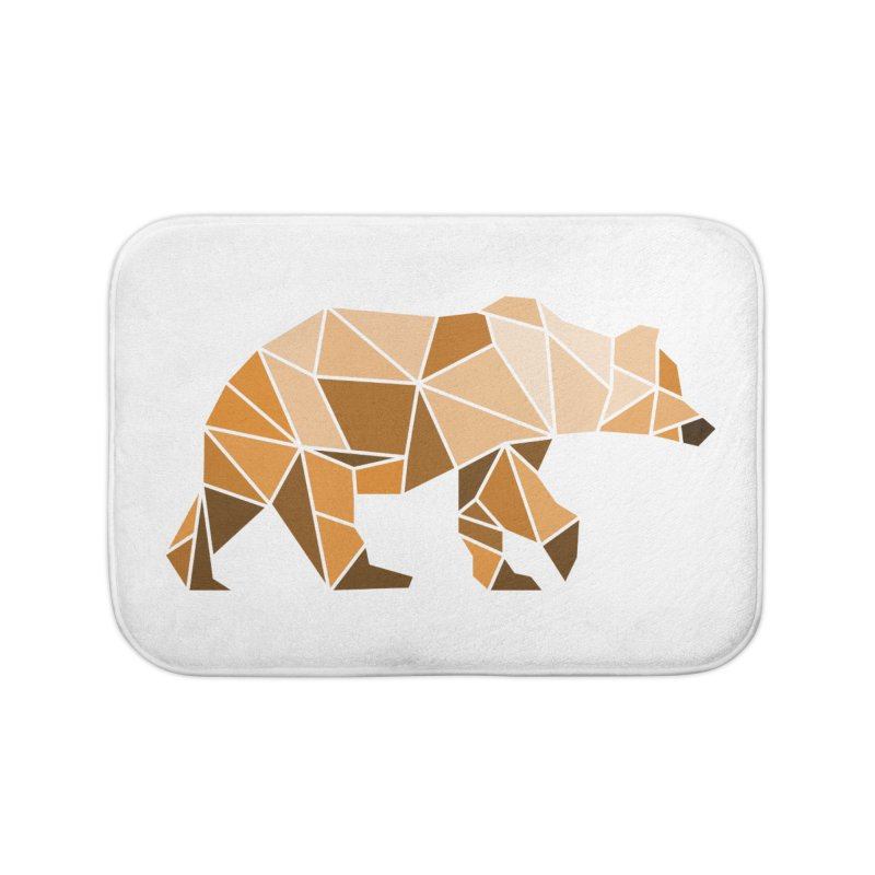 Geometric Grizzly Home Bath Mat by WaWaTees Shop