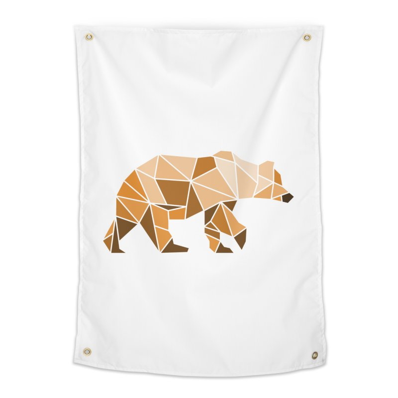 Geometric Grizzly Home Tapestry by WaWaTees Shop