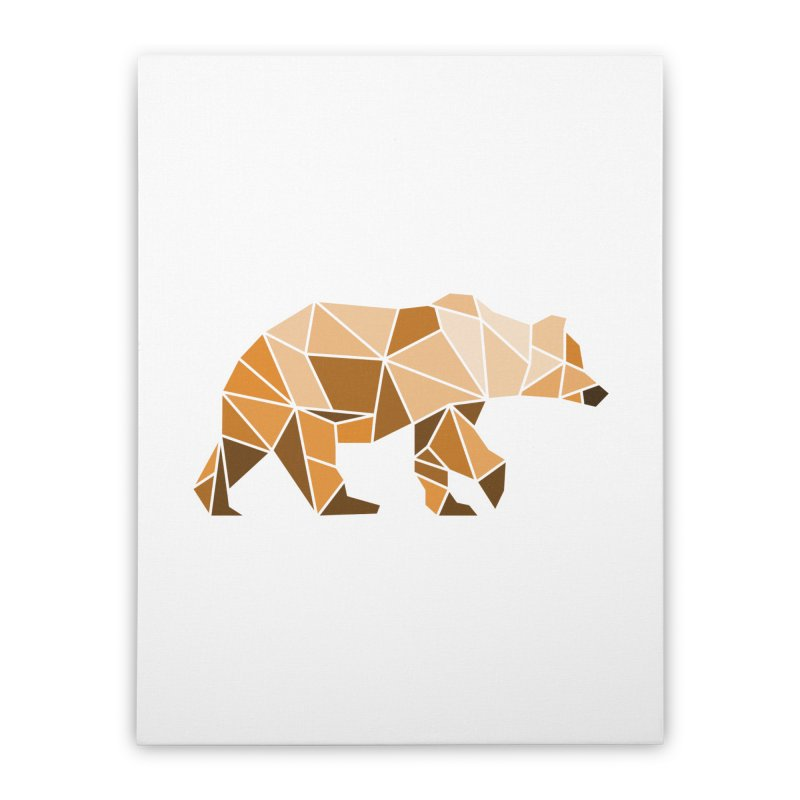 Geometric Grizzly Home Stretched Canvas by WaWaTees Shop