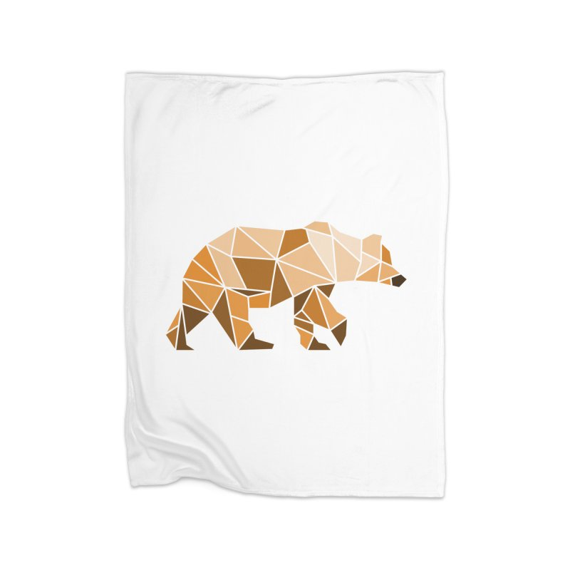 Geometric Grizzly Home Blanket by WaWaTees Shop