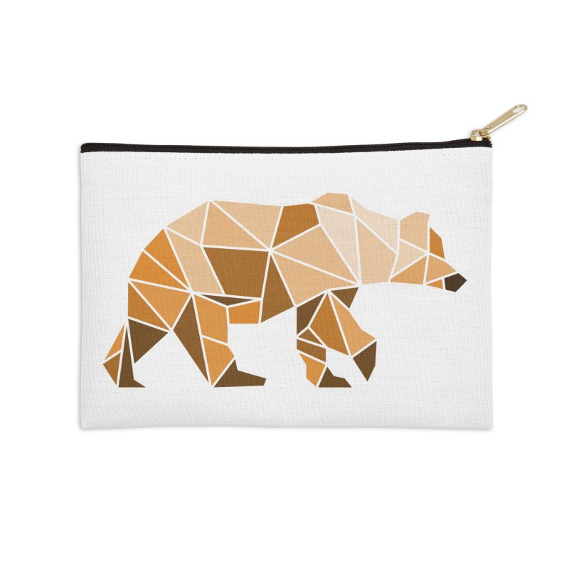 Geometric Grizzly Accessories Zip Pouch by WaWaTees Shop