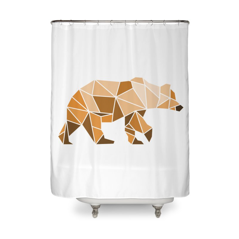 Geometric Grizzly Home Shower Curtain by WaWaTees Shop