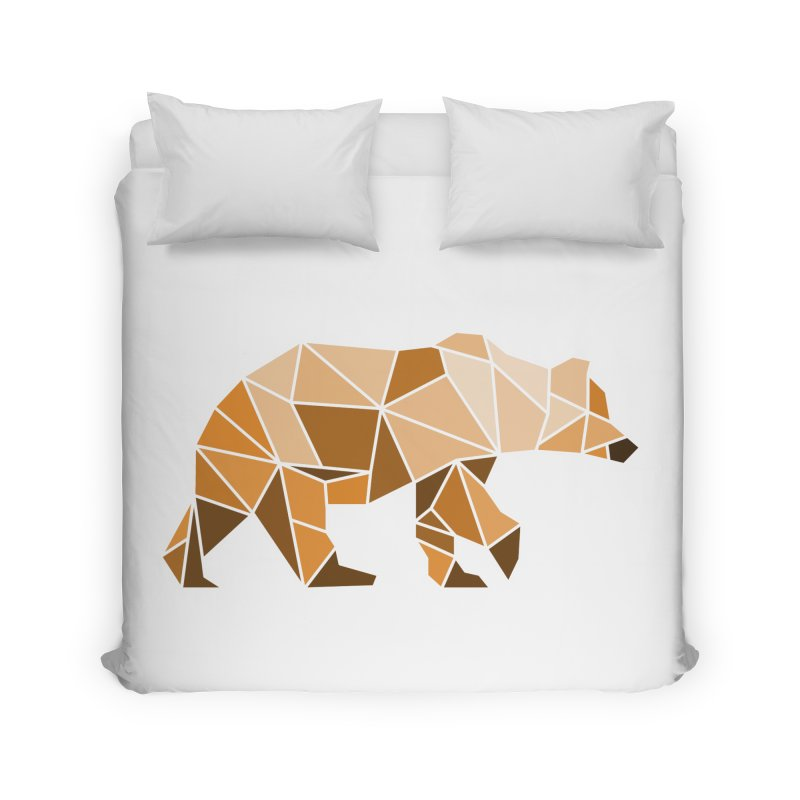 Geometric Grizzly Home Duvet by WaWaTees Shop