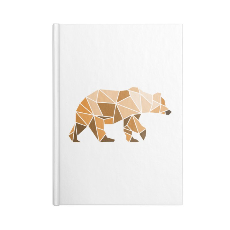Geometric Grizzly Accessories Notebook by WaWaTees Shop