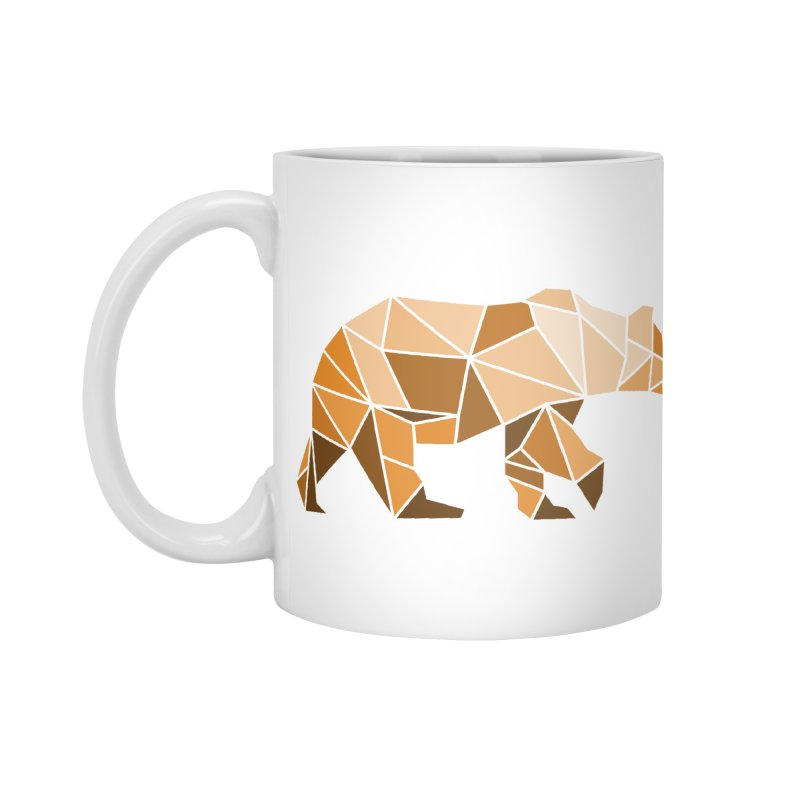 Geometric Grizzly Accessories Mug by WaWaTees Shop