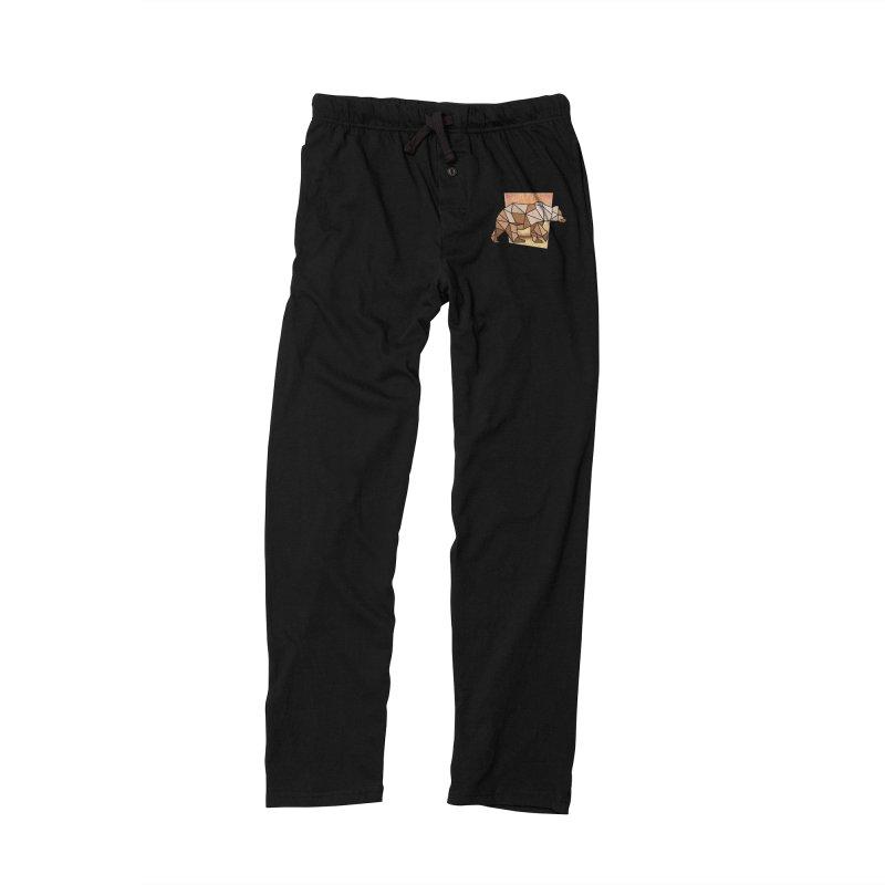 Polygonal Grizzly Bear Men's Lounge Pants by WaWaTees Shop