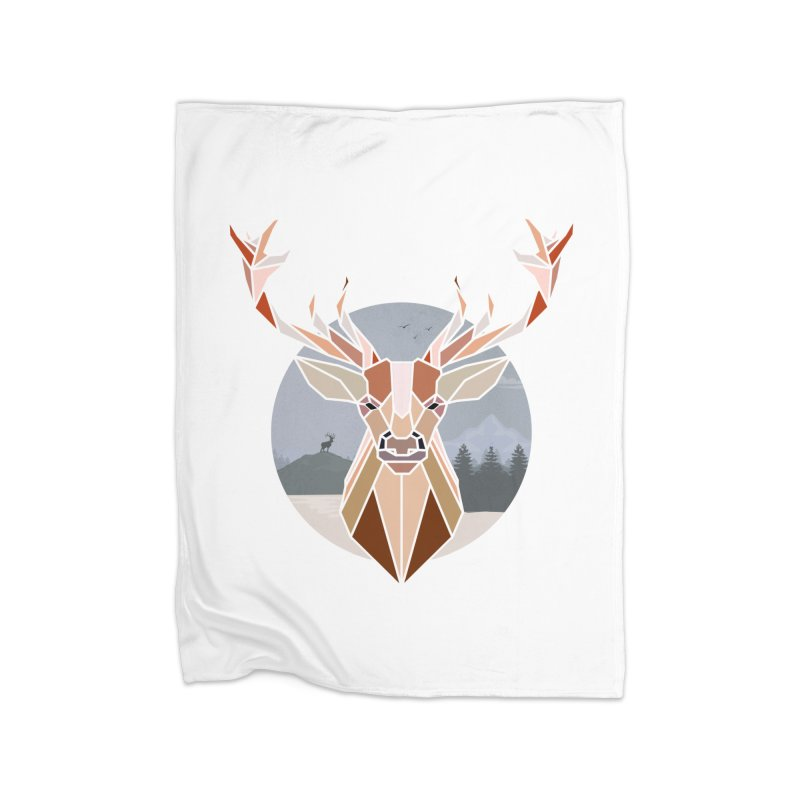 Polygonal Deer Head Home Blanket by WaWaTees Shop