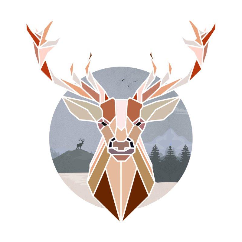 Polygonal Deer Head by WaWaTees Shop