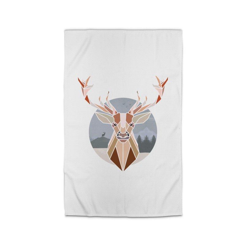 Polygonal Deer Head Home Rug by WaWaTees Shop