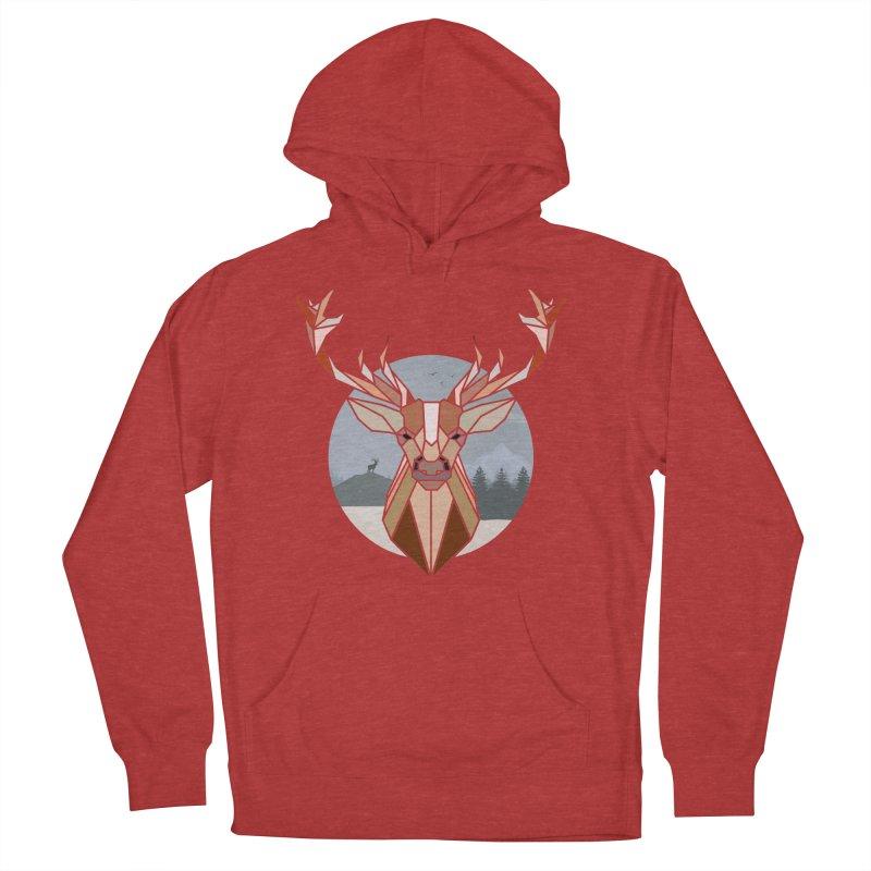 Polygonal Deer Head Women's Pullover Hoody by WaWaTees Shop