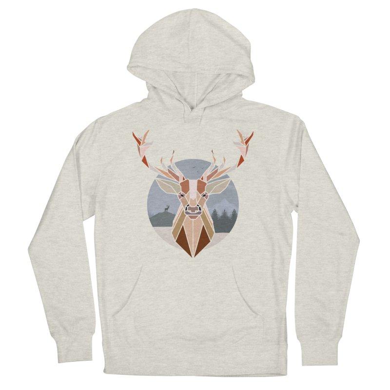 Polygonal Deer Head Men's Pullover Hoody by WaWaTees Shop