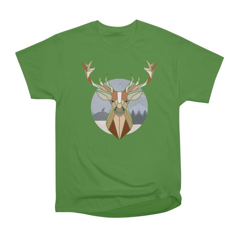 Polygonal Deer Head Women's Classic Unisex T-Shirt by WaWaTees Shop