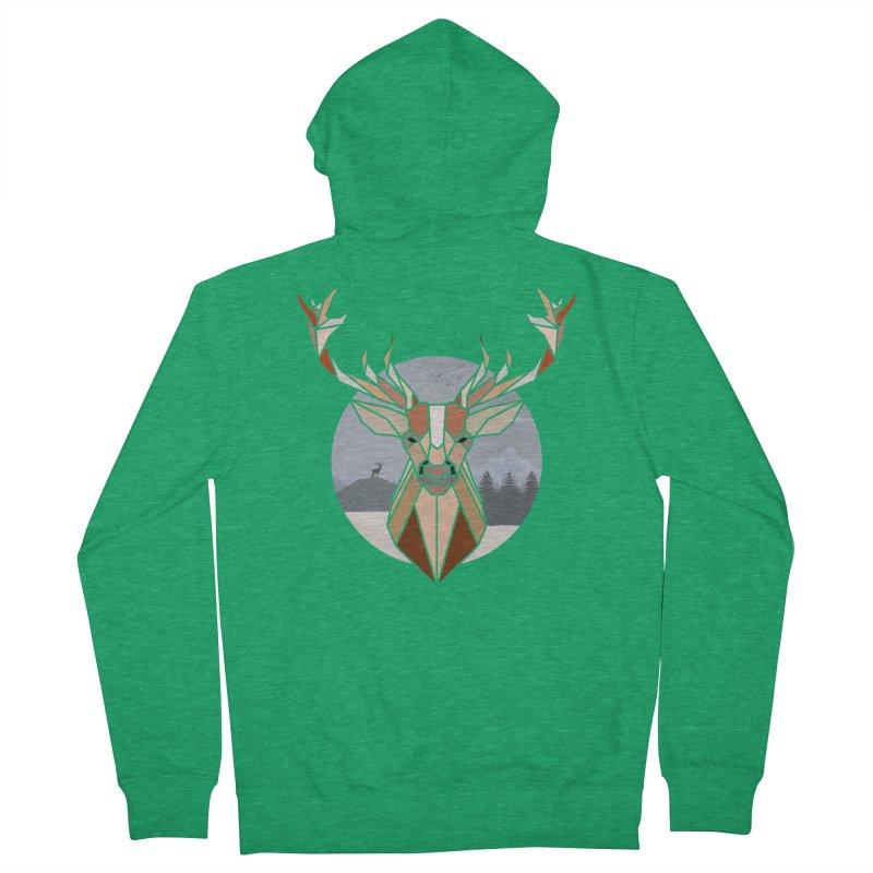 Polygonal Deer Head Women's Zip-Up Hoody by WaWaTees Shop