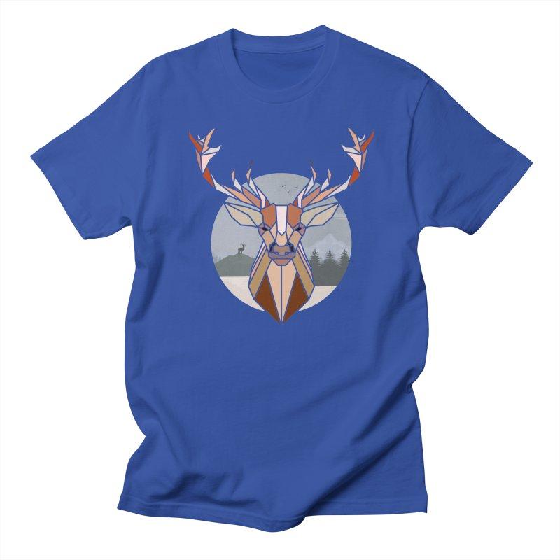 Polygonal Deer Head Women's Unisex T-Shirt by WaWaTees Shop