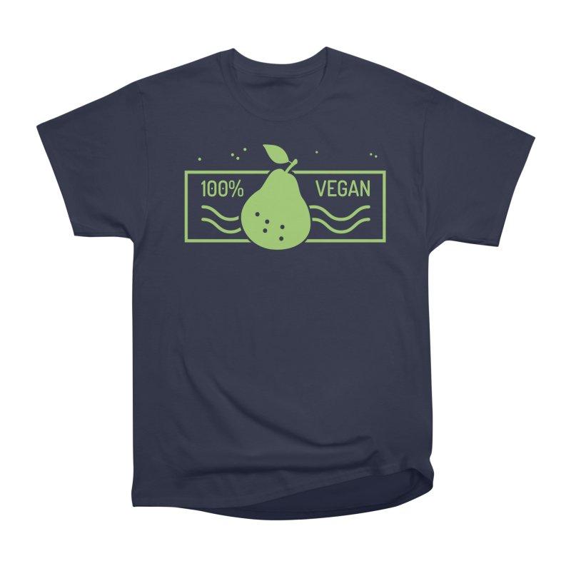 100% Vegan Men's Heavyweight T-Shirt by WaWaTees Shop