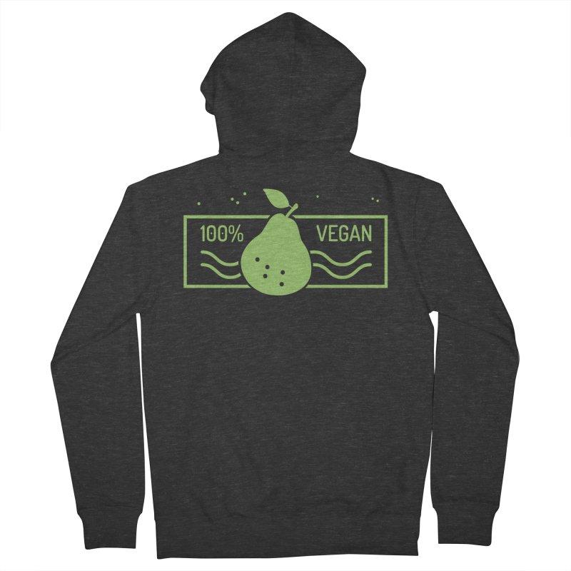 100% Vegan Men's Zip-Up Hoody by WaWaTees Shop