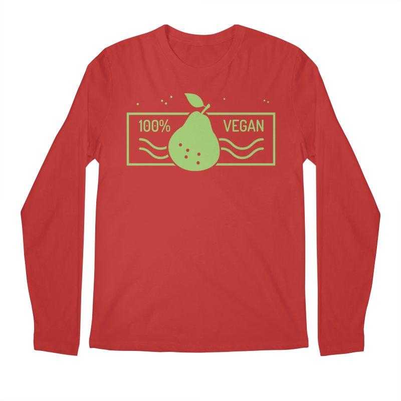 100% Vegan Men's Regular Longsleeve T-Shirt by WaWaTees Shop