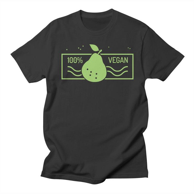 100% Vegan Men's T-Shirt by WaWaTees Shop