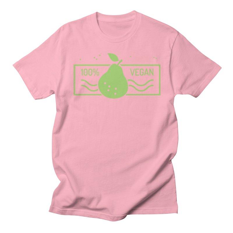 100% Vegan Men's Regular T-Shirt by WaWaTees Shop