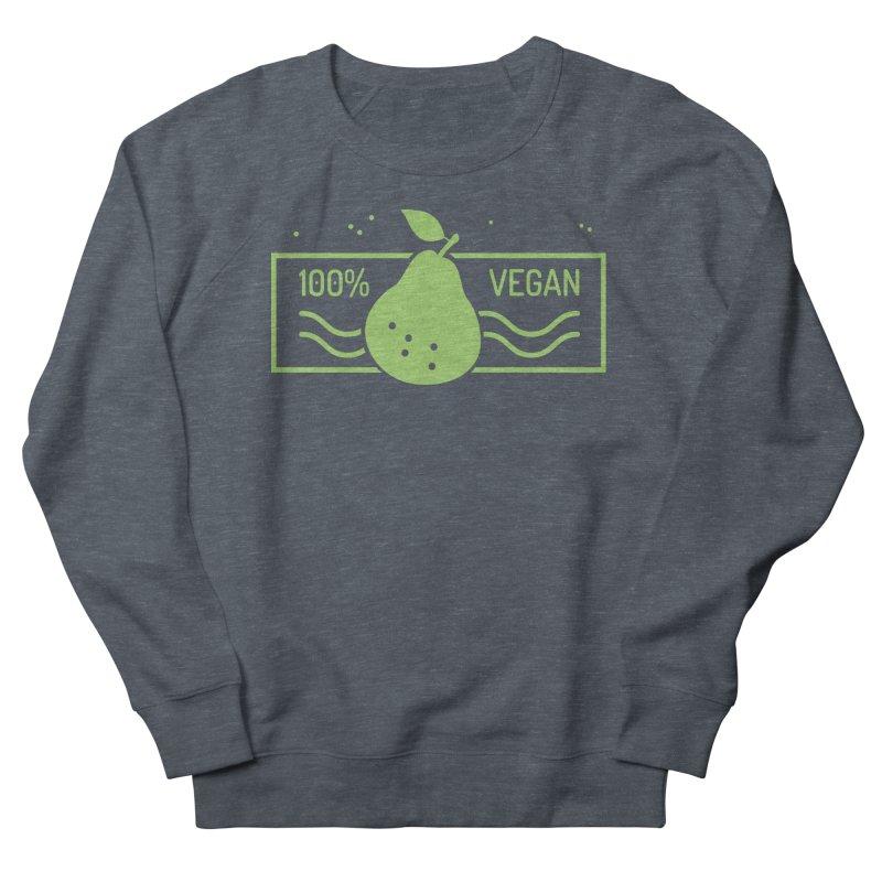 100% Vegan Women's French Terry Sweatshirt by WaWaTees Shop