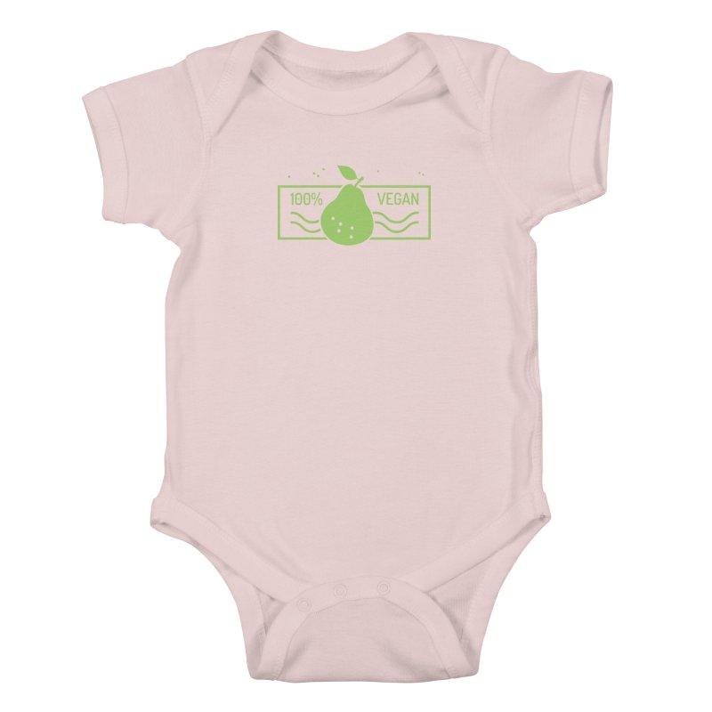100% Vegan Kids Baby Bodysuit by WaWaTees Shop